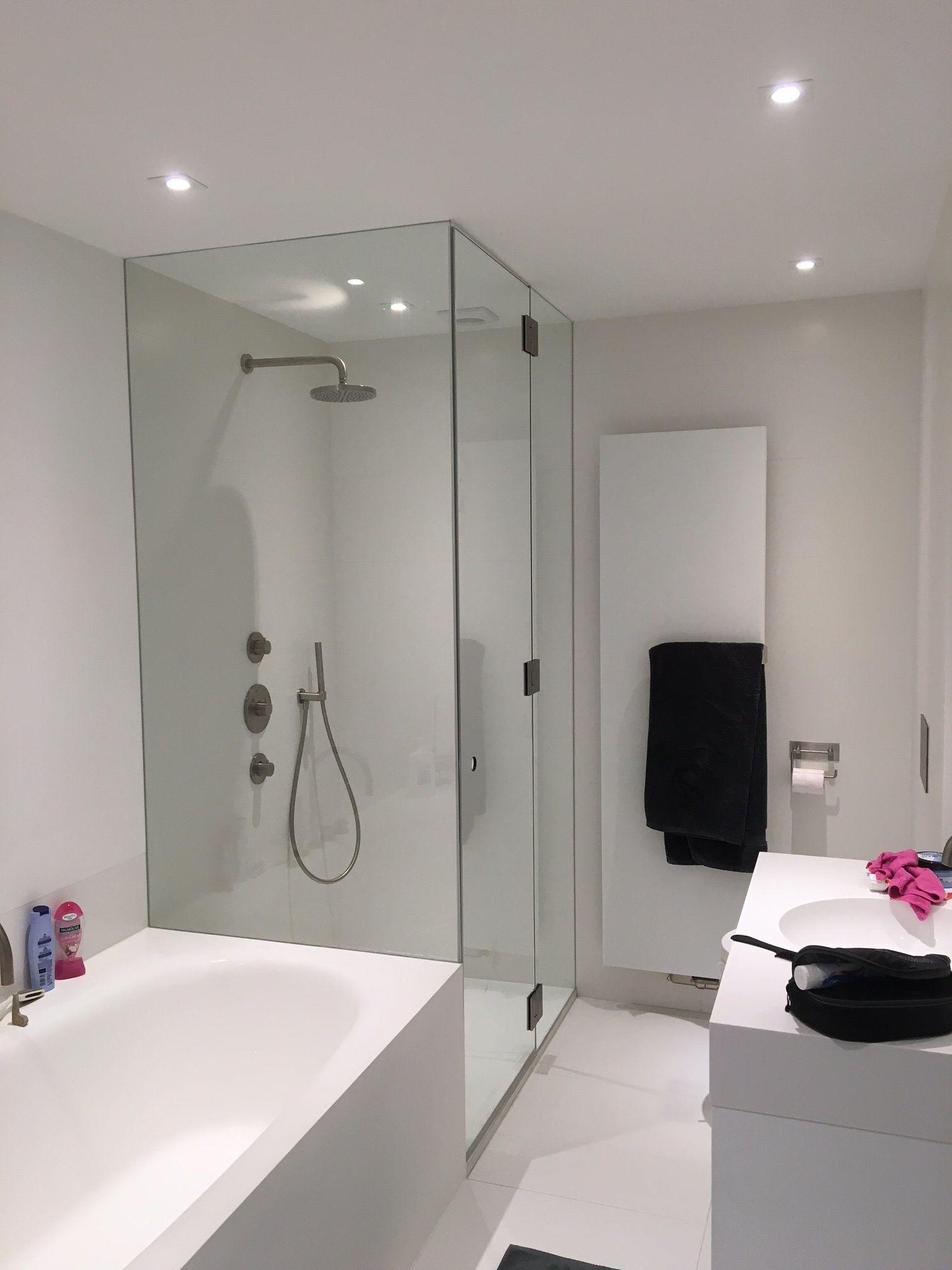 douchewand clearlabel maatwerk tot aan plafond wanden volledig