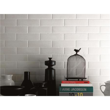 Original Style tiles - Mattone Brick Effect Bianco Ceramic ...