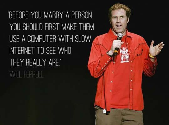 Before your marry a person.
