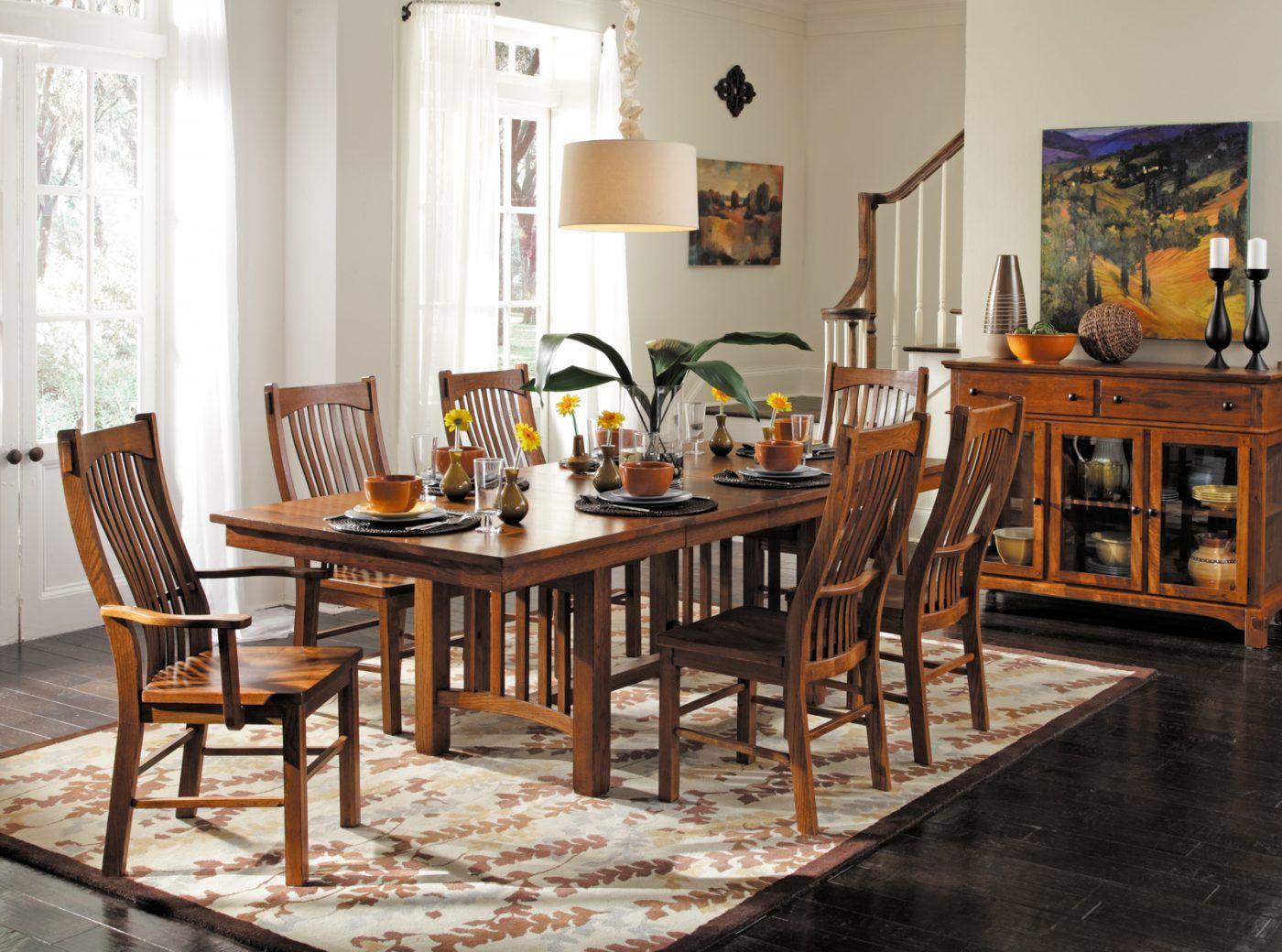 Laurelhurst Mission Dining Table In Kitchen Dining Room