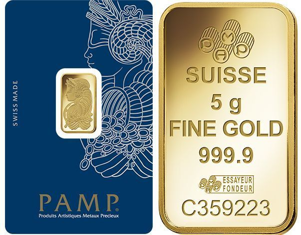 Fifty 50 5 Gram Pamp Suisse 9999 Pure Gold Bars Free Shipping Pure Products Gold Stock Gold