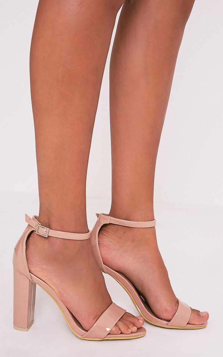 346b69b4c90 May Nude Patent Block Heeled Sandals in 2019 | Heels | Gold block ...