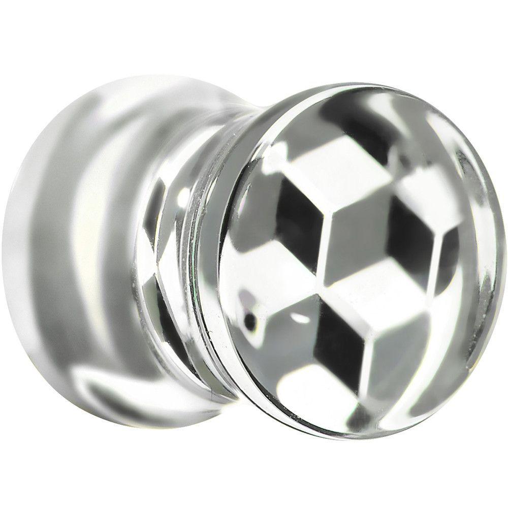 0 Gauge Optical Cubes Acrylic Saddle Plug