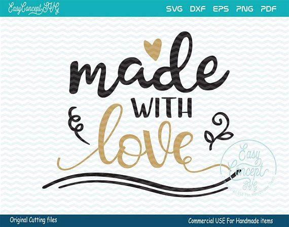 Download Made with love svg hand lettered svg svg Template instant ...
