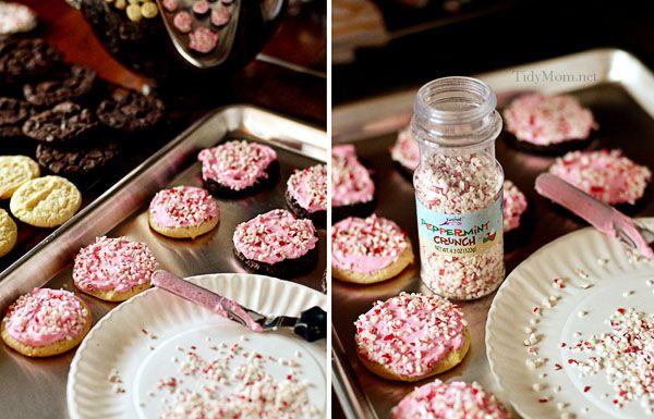 Cake Mix Peppermint Cookies from TidyMom @KatrinasKitchen #BringtheCOOKIES