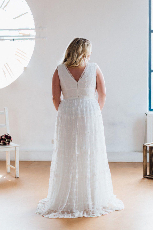 Hippie Brautkleid in Größe 48 50 52 – unsere Dana versprüht auch bei ...