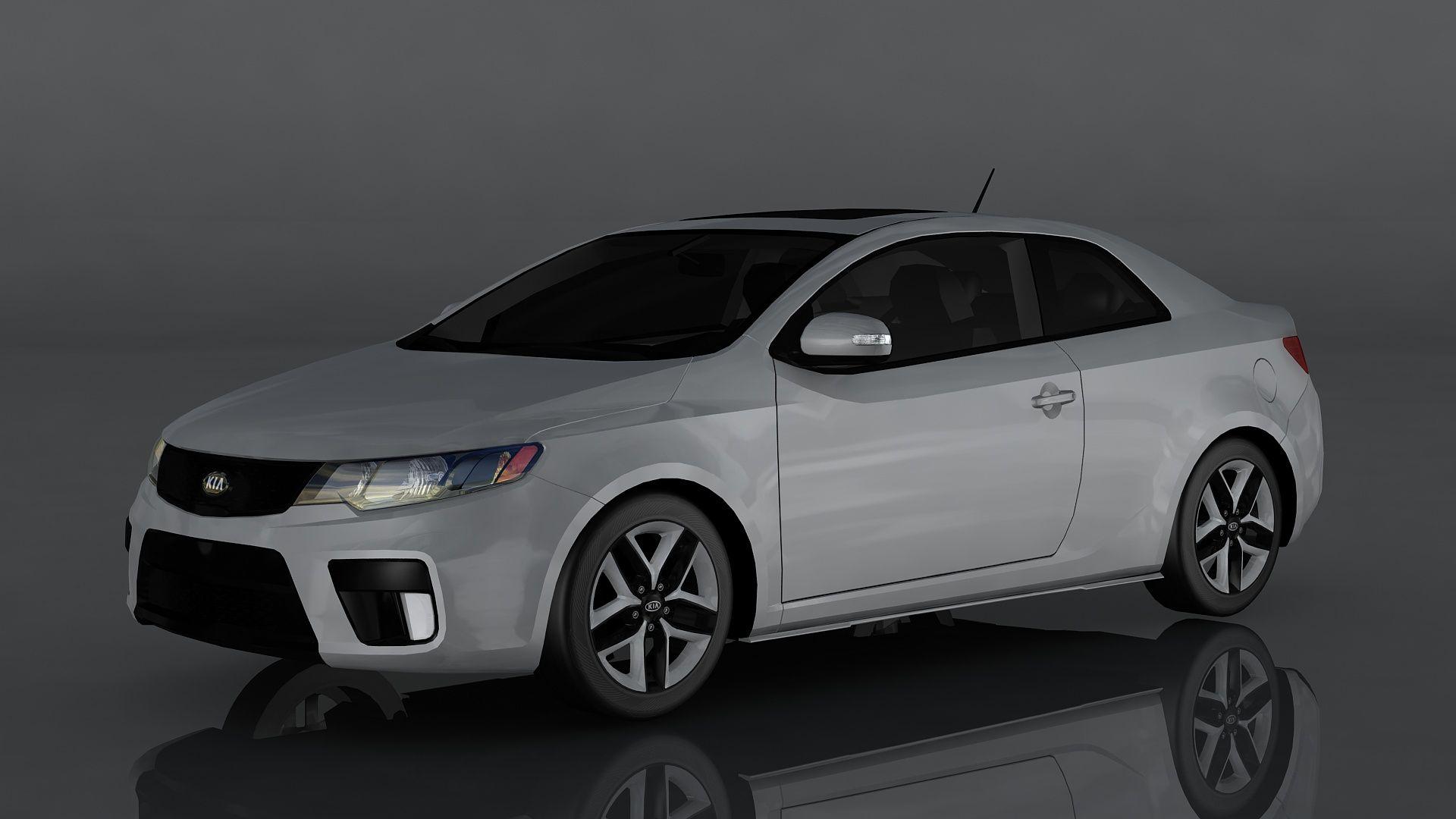 Kia Forte Koup Sx Ad Forte Kia Sx Koup In 2020 Kia Forte Kia Low Poly 3d Models