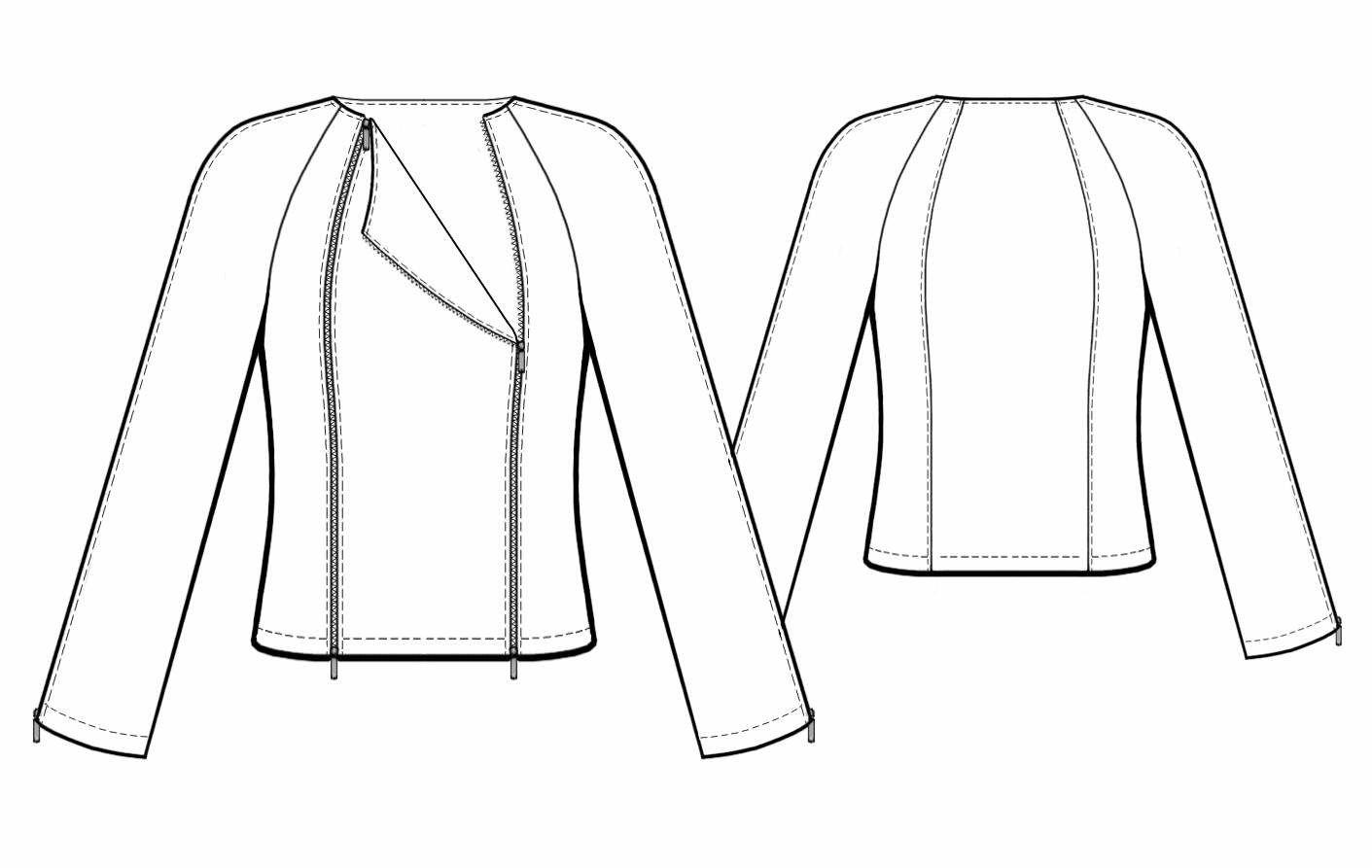 Jacket With Raglan Sleeves