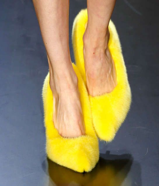 These Tweety Bird-Inspired Céline Heels Make a Bold Fashion Statement #shoes trendhunter.com