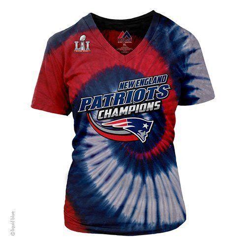 New England Patriots NFL Super Bowl LI 51 Champions Ladies Tye Dye T-Shirt   NewEnglandPatriots 35fe76690