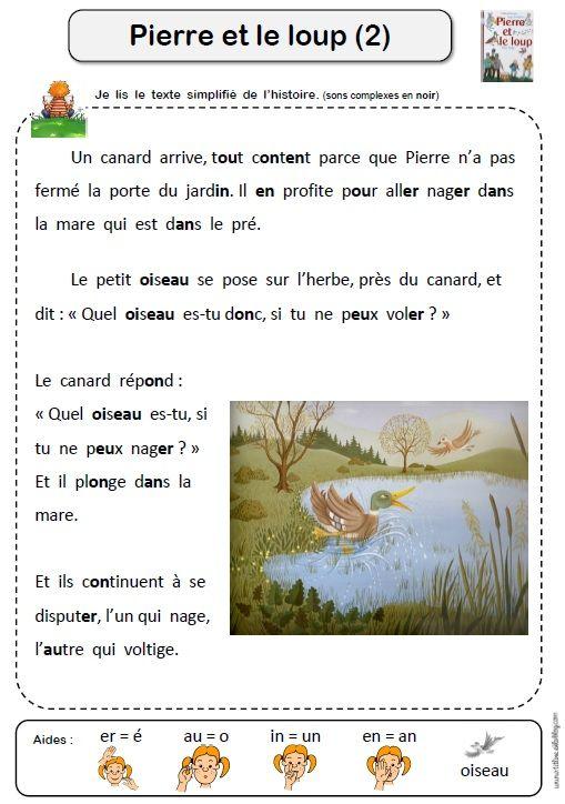 Pierre Et Le Loup Texte : pierre, texte, Épinglé, Pierre