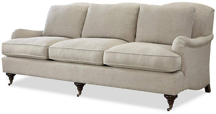 One Kings Lane Camille 85 Linen Sofa Beige With Images Beige