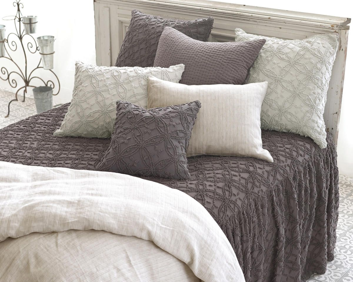 NEW from Pine Cone Hill Candlewick Shale bedspread (With