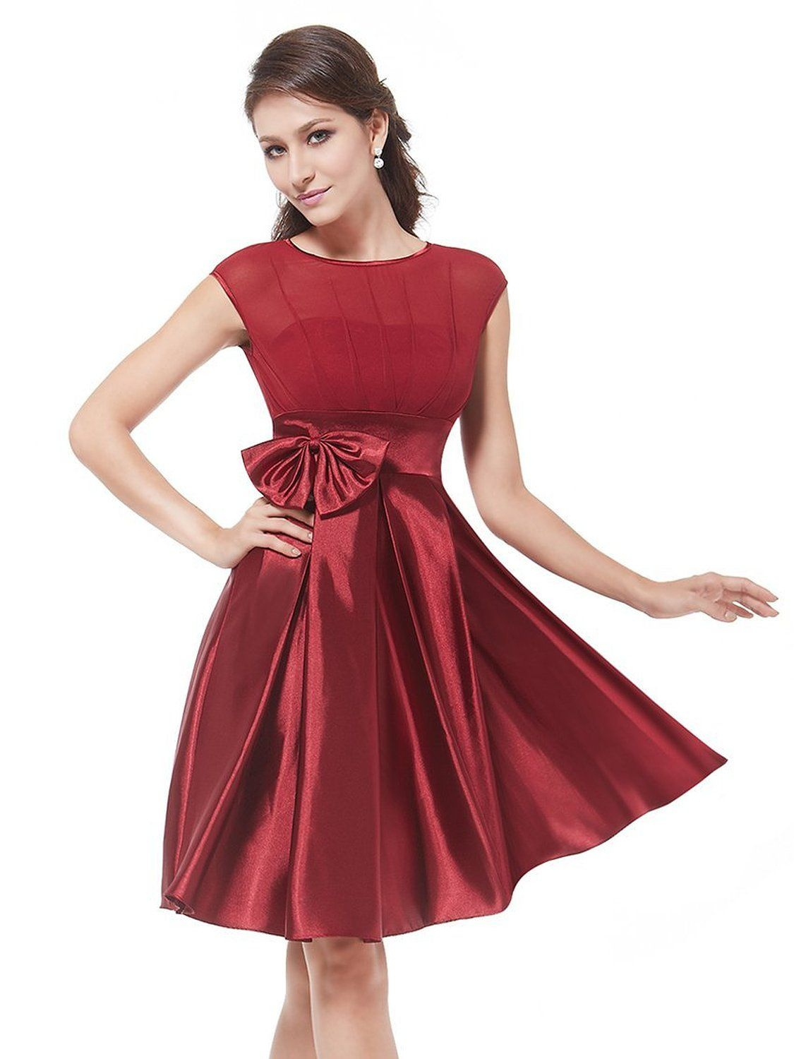Robot Check Knee Length Cocktail Dress Red Cocktail Dress Womens Cocktail Dresses [ 1500 x 1125 Pixel ]
