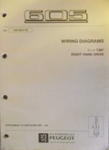 details about peugeot 605 wiring diagram manual 1997 1059 gb 01 97peugeot 605 wiring diagram manual 1997 1059 gb 01 97