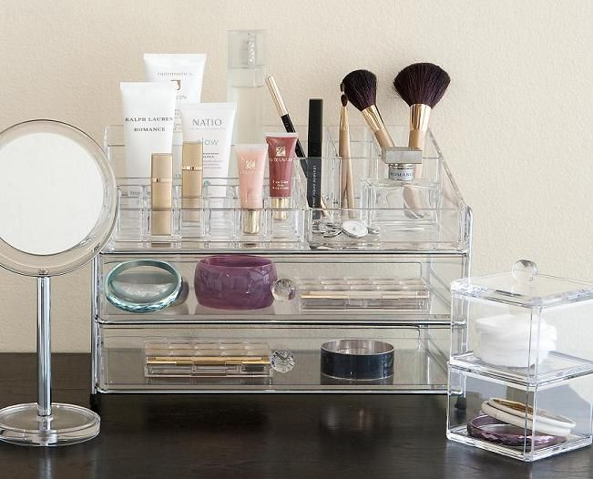 Clear Makeup Organiser For Dressing Table Top