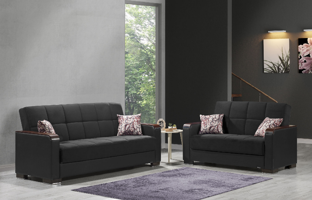 Armada X Black Black Sofa 26 Casamode Furniture Fabric Sofas Sofa Black Sofa Fabric Sofa