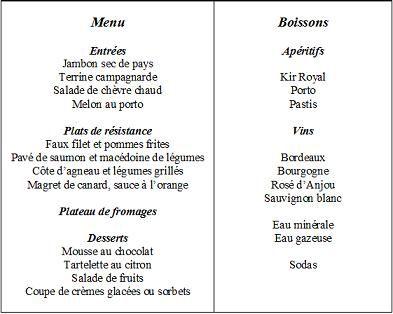 Au restaurant dialogue a ecouter french caf le for Anglais facile vocabulaire cuisine