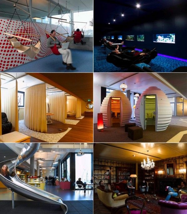 google office designs. How About A Swing In Our New Office? Inspiration From Google #hideoutden Office Designs