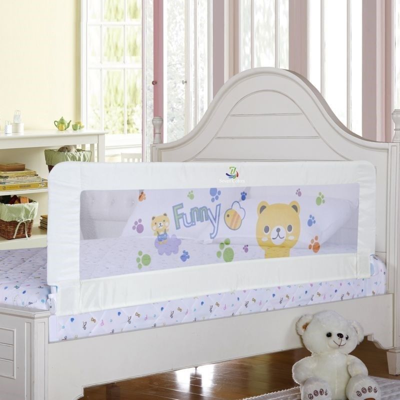 Baby bed rail children bedrail white extra long bed guard