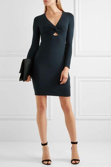 Twist-front Stretch-modal Jersey Mini Dress - Navy Alexander Wang 3VU03