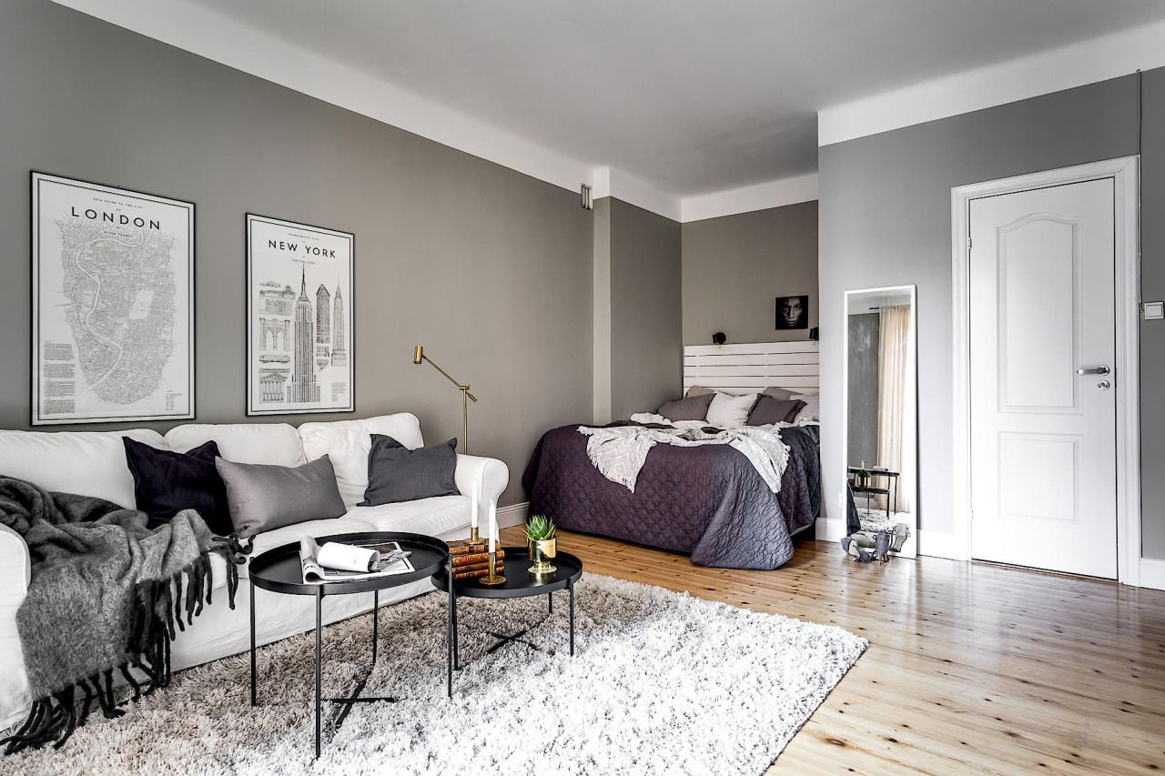 Grey Studio Apartment Apartment Layout Studio Apartment Layout Apartment Interior