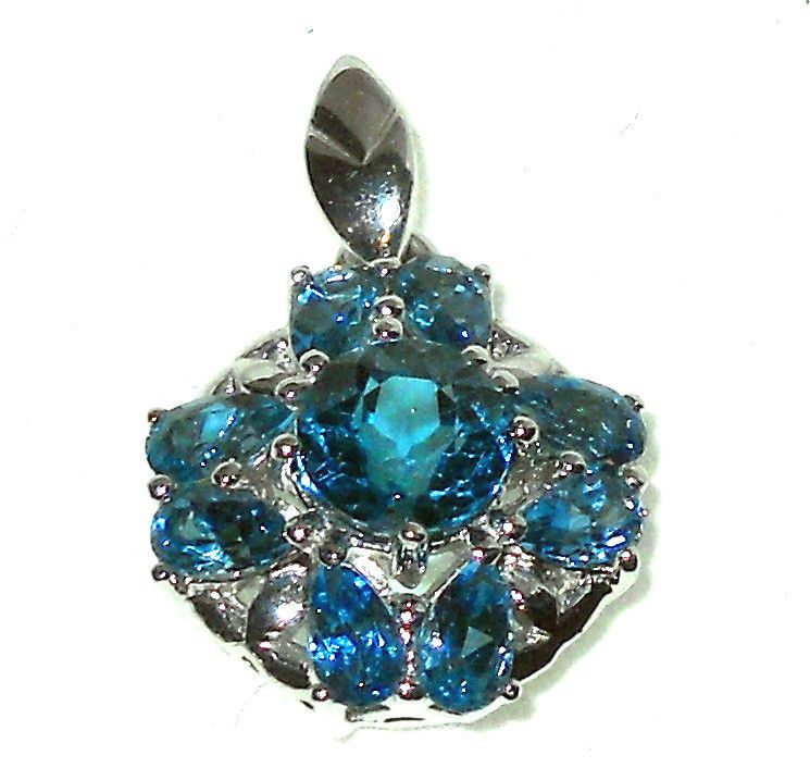 London Blue and White Topaz Silver Pendant  4.00 ctw  http://stores.ebay.com/JEWELRY-AND-GIFTS-BY-ALICE-AND-ANN