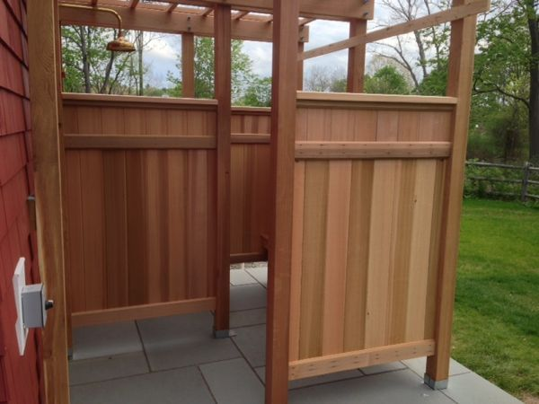 Charming Build Outdoor Shower Enclosure Images More