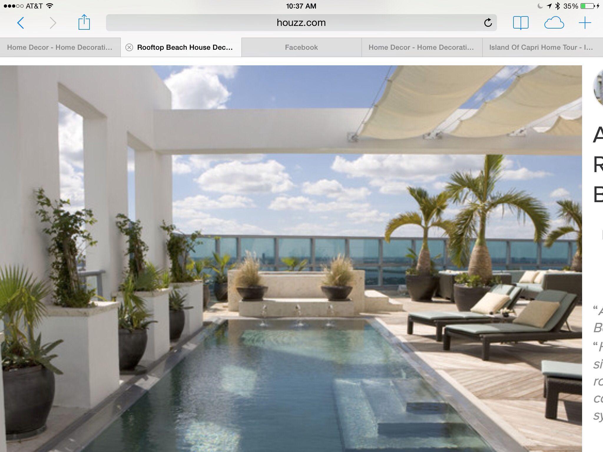 Roof Top Pool & Border Wall