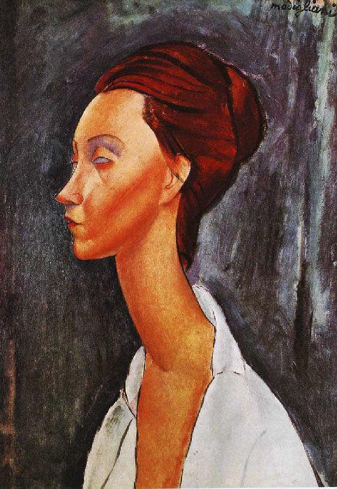 Jeanne HEBUTERNE Pour peindre ce petit profil \u2013 pose assez rare chez