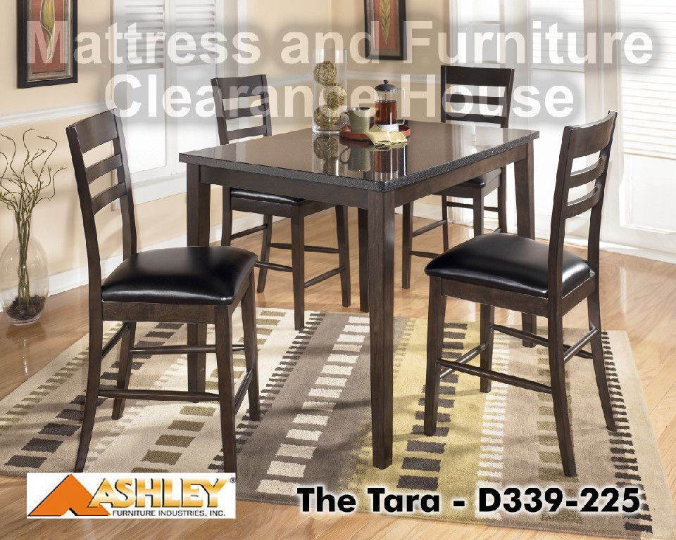 609 99 Signature Design Tara Dark Brown Rect Cntr Ht Table Set
