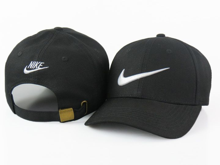 Men s   Women s Nike Feather Light Tech Swoosh Adjustable Golf Dad Hat -  Black   White 4a10ab34c5