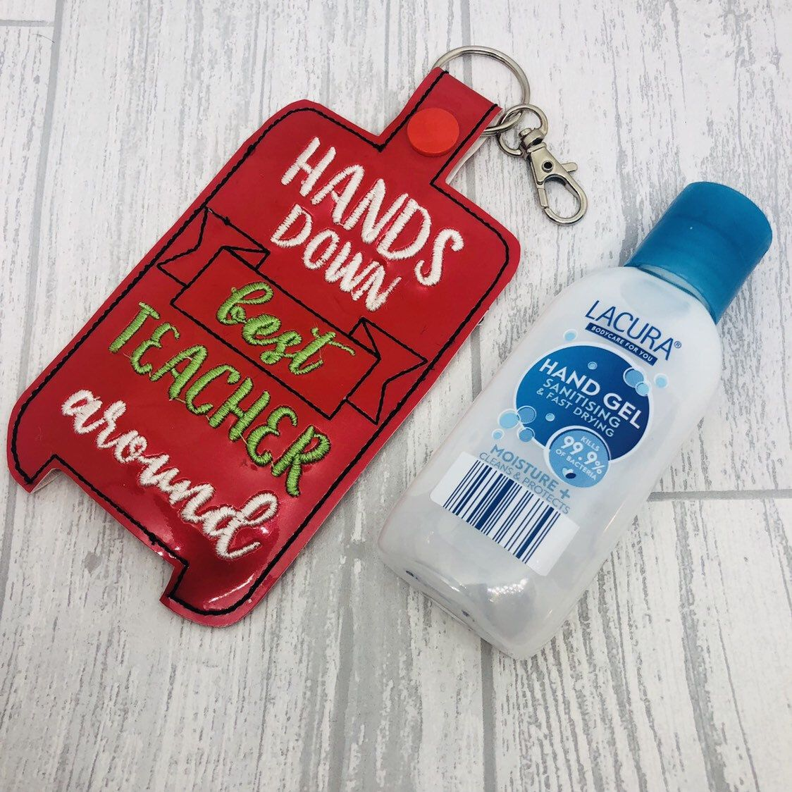 Sheep Hand Sanitizer Holder Keychain 1 Ounce Sanitizer Holder