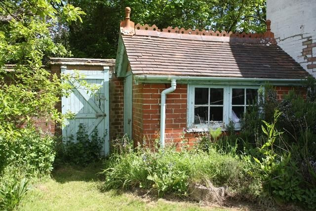 Brick potting shed google search garden ideas for Brick garden shed designs