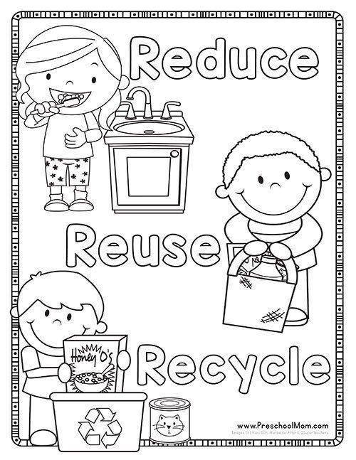 recycling arbeitsblätter für kindergarten recycle