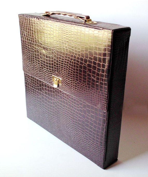 Vintage Vinyl 12 Lp Album Record Case Box Faux Etsy Record Case Vinyl Lp Albums