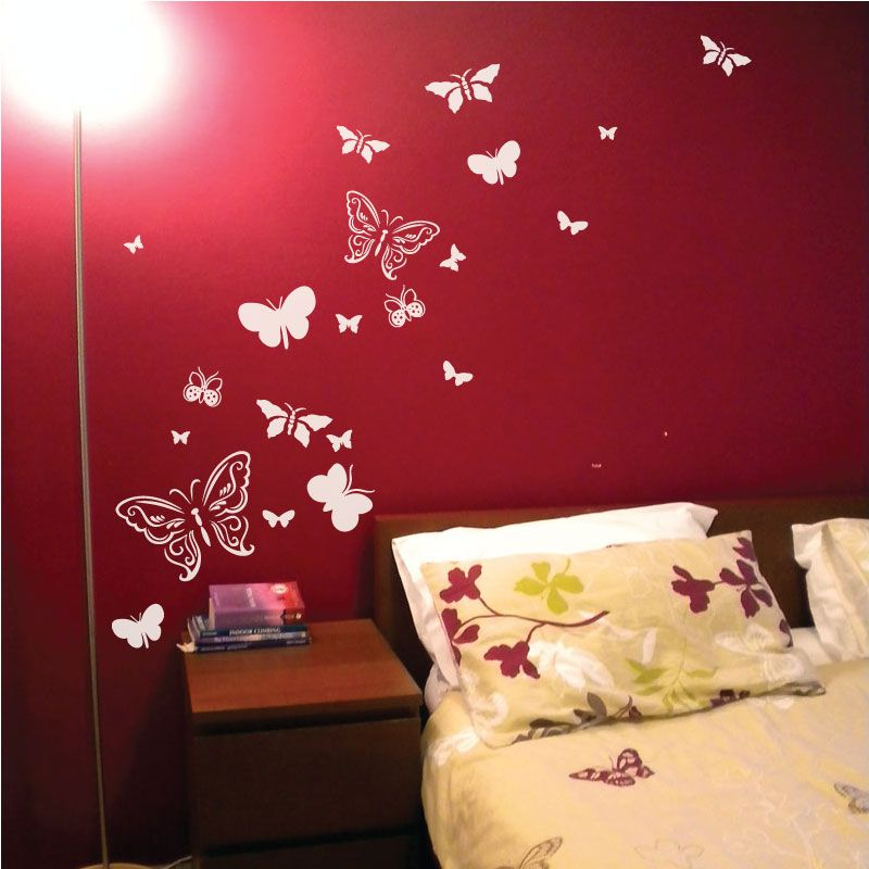 Butterfly Wall Decal | Butterfly Wall Stickers 1 Colour Part 35