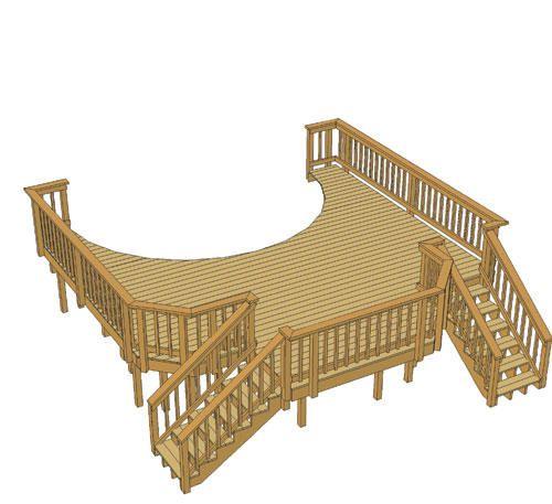 20 X 20 Pool Deck W Two Stairs At Menards Pool Deck Plans Pool Decks Pool Deck