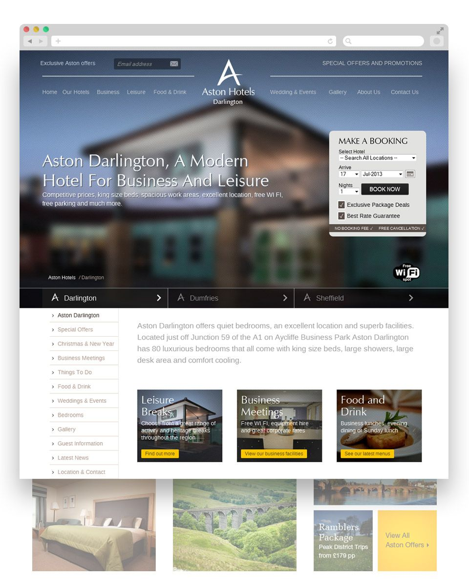 Net Solutions Featured Project Aston Hotels Aston Hotel Experience Design Hotel