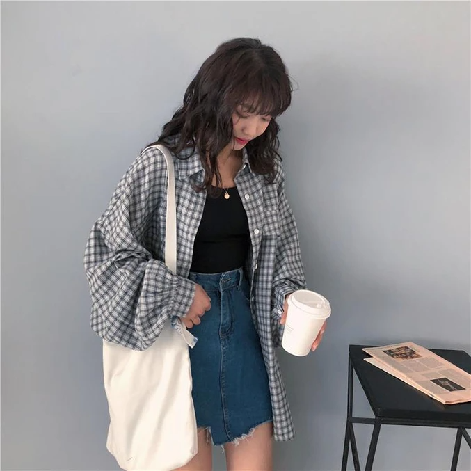 90S AESTHETIC VINTAGE LOOSE SHIRT