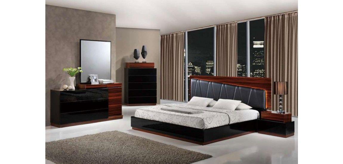 Schwarz, Modernes Schlafzimmer Set - Schlafzimmer Überprüfen Sie me