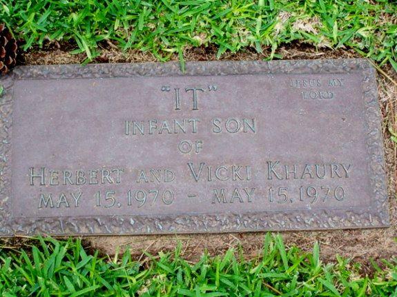 It Khaury Stillborn Son Of Tiny Tim Memorial Oaks Cemetery