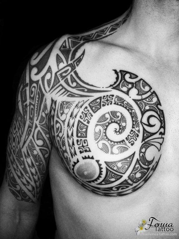 Tatouage polynesien bras epaule tatoo1 pinterest tatouages polyn siens polynesien et - Tatouage epaule bras ...