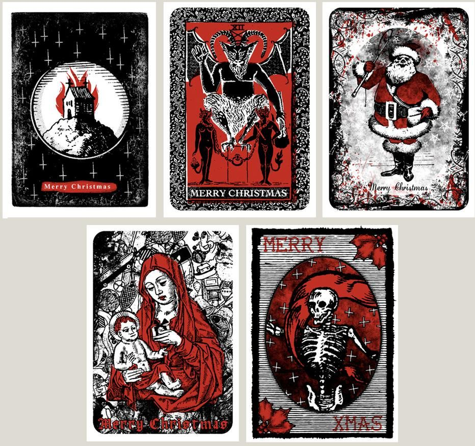 Occult Christmas Cards. Made Me LOL.
