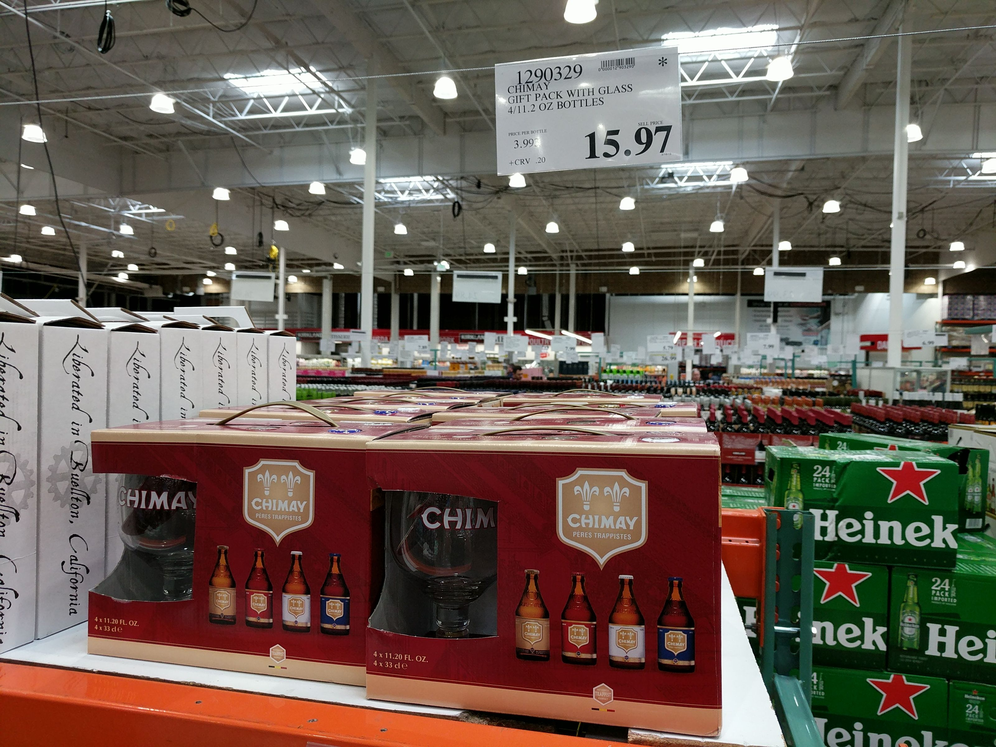 Chimay Gift Pack With Glass 15 97 Costco Clearance Malt Beer Gift Packs Trappist Beer