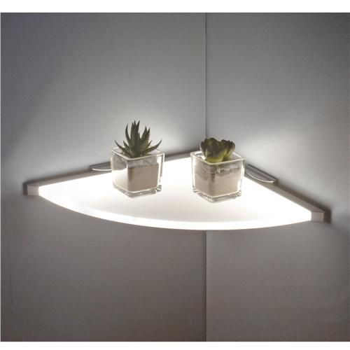 Sirius Led Glass Corner Shelf Light Glass Corner Shelves Led Shelf Lighting Corner Shelves