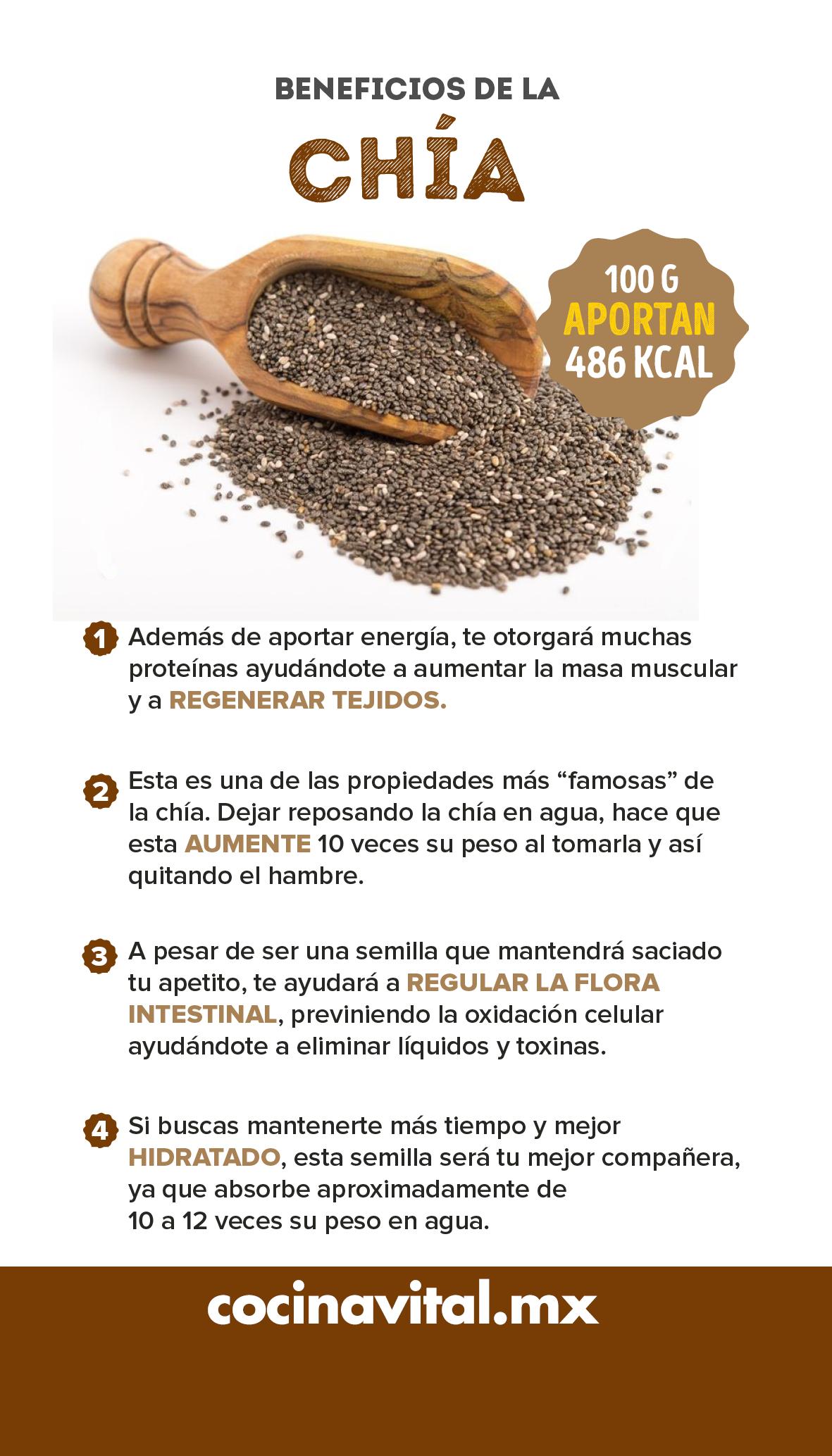 9 Beneficios De La Chía Beneficios De La Chia Beneficios De Alimentos Tips Nutricion