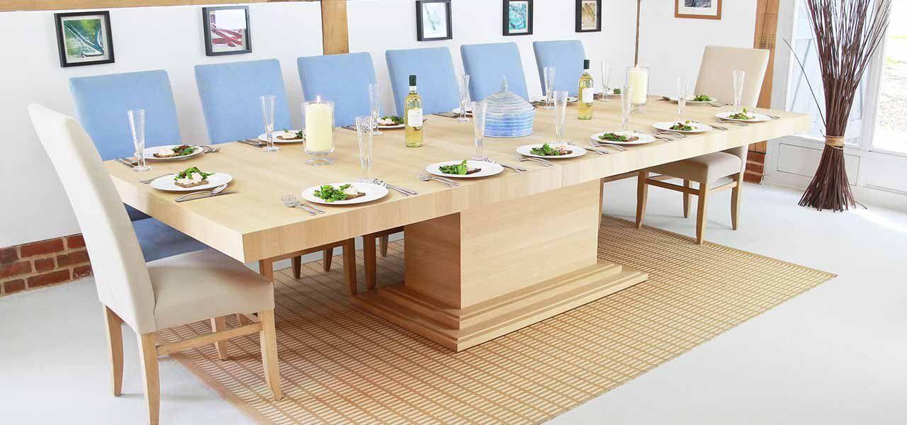 Middleton Rectangular Extending Dining Table In Solid Oak