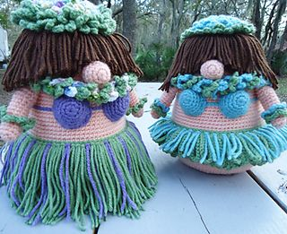 Amigurumi Hula Girl (With images) | Crochet dolls, Crochet doll ... | 261x320