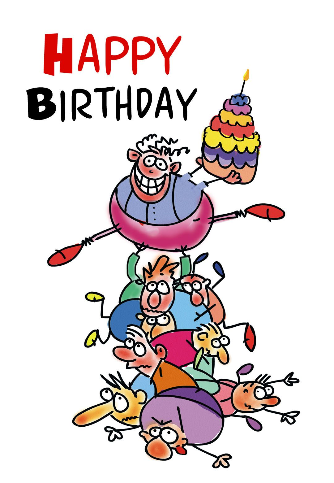 graphic relating to Free Printable Birthday Cards for Boys identify Free of charge Printable Humorous Birthday Greeting Card Presents in direction of produce
